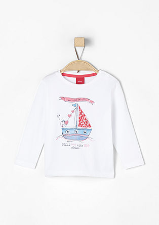 Nautical print long sleeve top from s.Oliver