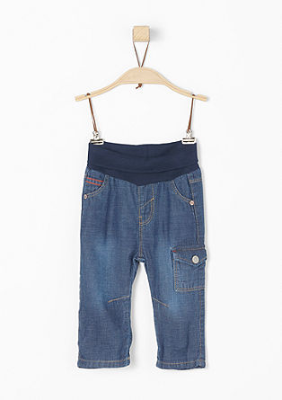 Jeans with a wide ribbed waistband from s.Oliver