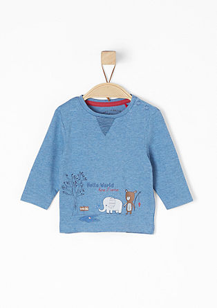 Long sleeve top with an elephant and bear from s.Oliver