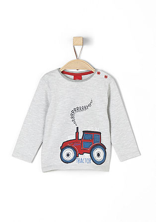 Long sleeve top with a tractor appliqué from s.Oliver
