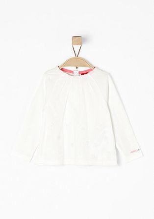 Shirt mit bestickter Mesh-Blende