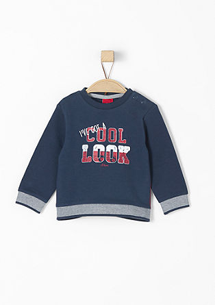 Sweatshirt with contrasting cuffs and hem from s.Oliver