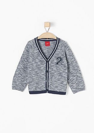 College-style cardigan from s.Oliver
