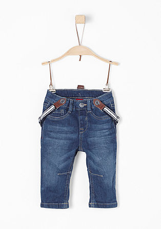Comfortable denim jeans with braces from s.Oliver
