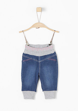 Baby jeans with a wide, ribbed waistband from s.Oliver