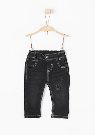 jeans with contrasting stitching from s.Oliver