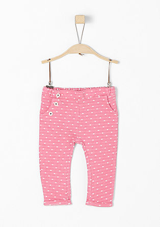 Tracksuit bottoms with polka dots from s.Oliver