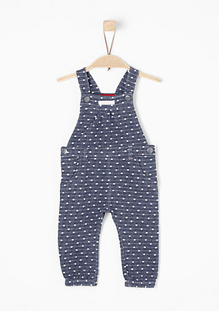 Dungarees in sweatshirt fabric from s.Oliver