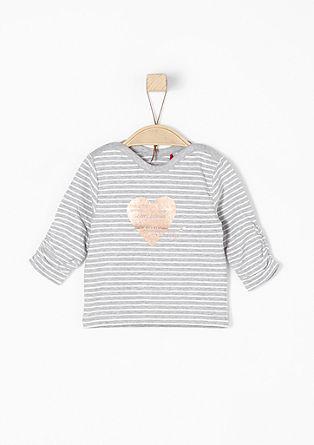 Gestreept shirt met een metallic print