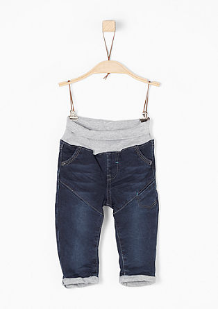 Lined jeans with a turn-down waistband from s.Oliver