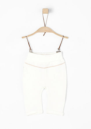 Tracksuit bottoms with a turn-down waistband from s.Oliver