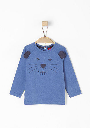 Raglan T-shirt with a beaver appliqué from s.Oliver