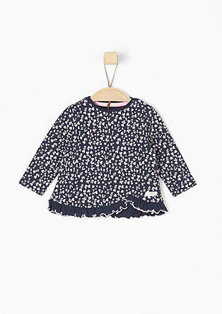 Long sleeve top with a frilled hem from s.Oliver