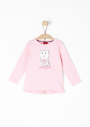 Long sleeve top with an owl print from s.Oliver