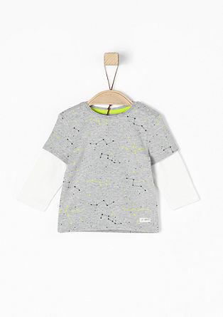 Layer-Look-Shirt mit Sternchen