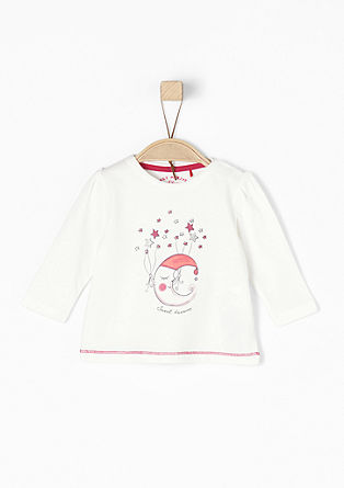Shirt mit Mond- und Sterne-Print