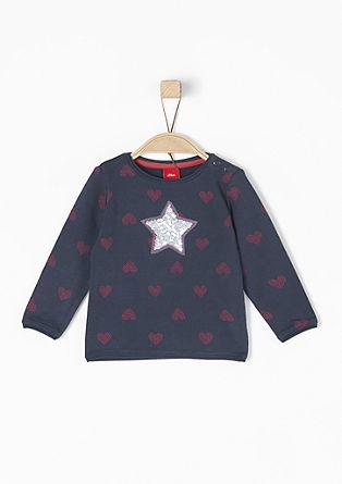 Sweatshirt mit Pailletten-Stern