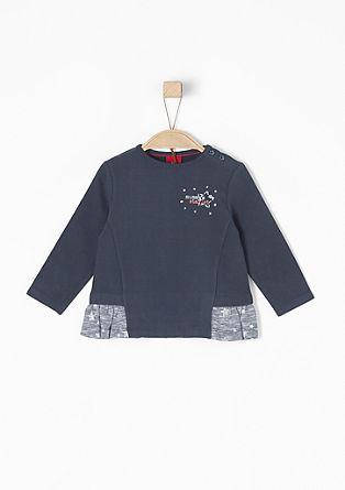 Sweatshirt mit Glitzersteinchen