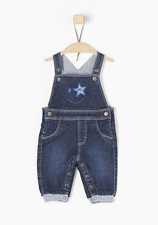 Gefütterte Jeans-Latzhose