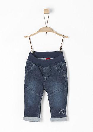 Gefütterte Jeans mit Umschlagbund
