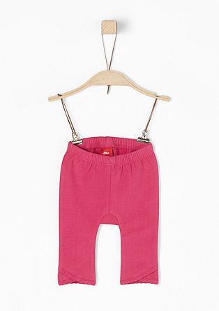 Pohodlné kalhoty z teplákoviny