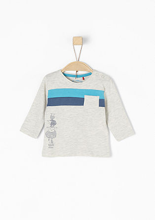 Colourblocking Langarmshirt
