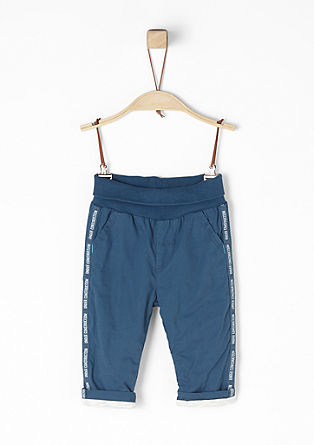 Lined cotton trousers from s.Oliver