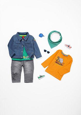 Sweatjacke im Jeansjacken-Design