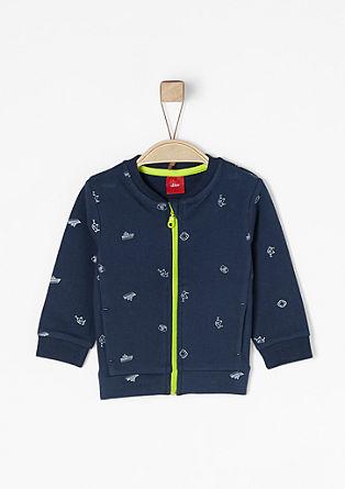 Sweatshirtjacke mit Print