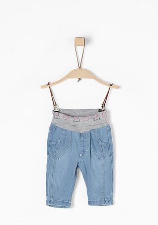 Jeans mit Motiv-Bund