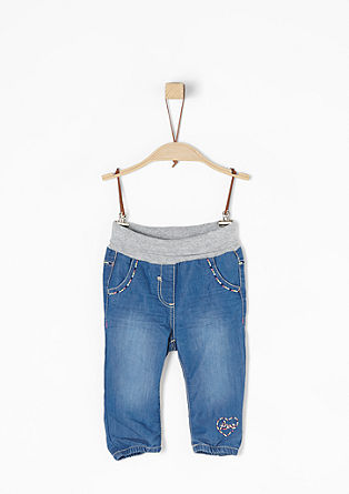Jeans mit Umschlagbund