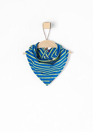 Halstuch mit Streifen und Print