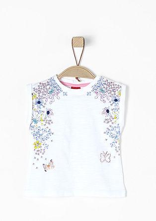 Kurzarm-Shirt mit floralem Print
