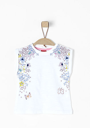 Short sleeve top with a floral print from s.Oliver