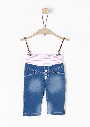Leichte Jeans mit Rippbund