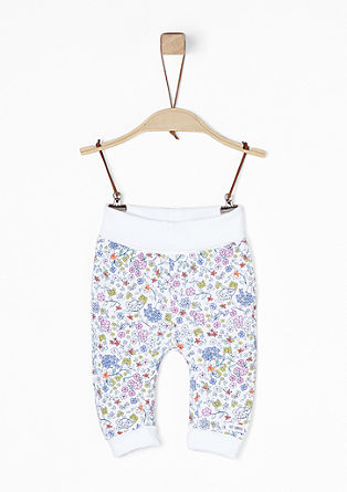 Jogging Pants mit Blumenmuster