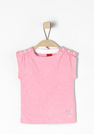 T-shirt with a flecked finish from s.Oliver