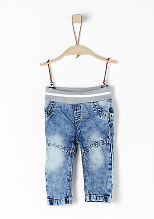 Leichte Jeans in Acid Washed-Optik