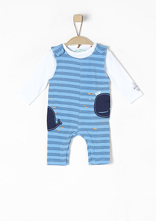 Nautical two-in-one romper suit from s.Oliver