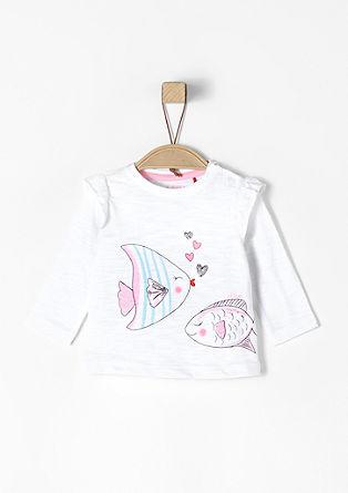 Shirt mit Rüschen und Fisch-Print