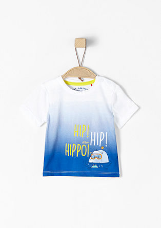 T-Shirt mit Hippo-Print