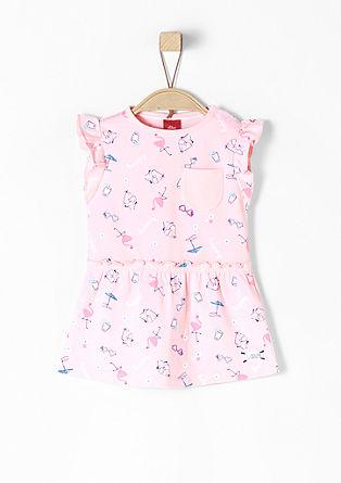 Printed jurk met ruches