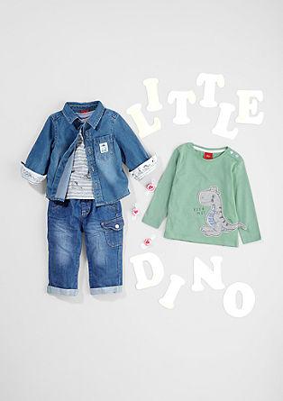 Langarmshirt mit Dino-Artwork