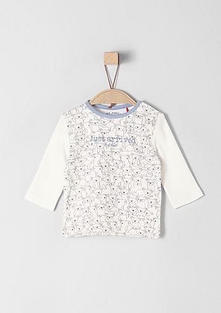 Long sleeve top with a bear print from s.Oliver