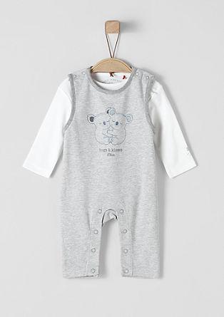 Komplet pajacev 2 v 1 z majico z dolgimi rokavi