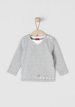 Layer Shirt mit Ghost-Print