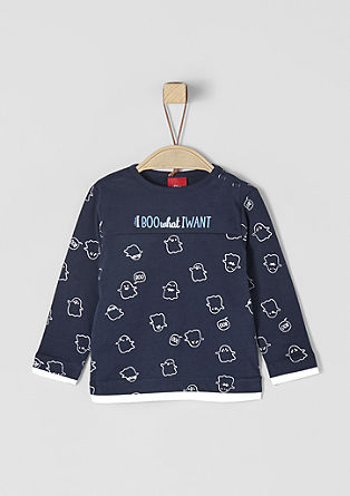 Long sleeve top with a cute motif print from s.Oliver