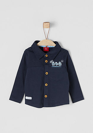 Polo shirt with long sleeves from s.Oliver