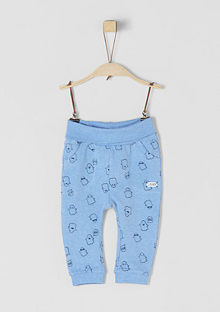 Tracksuit bottoms with a ghost print from s.Oliver