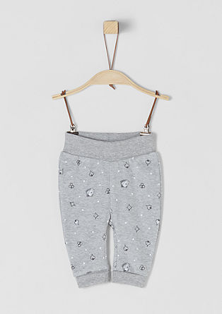 Jersey-Pants mit Allover-Print